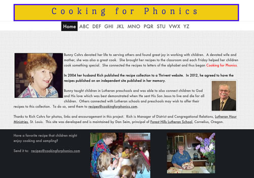 Cooking for Phonics